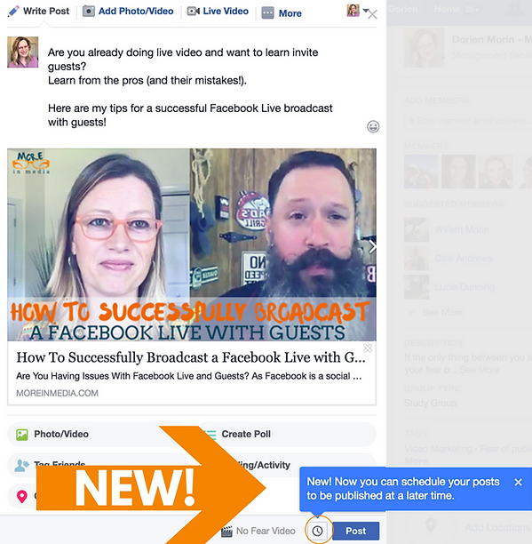 How To Schedule a Facebook Group Post