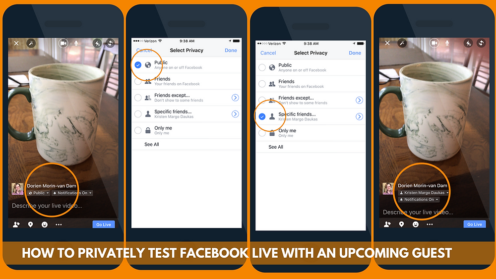 How to privately test Facebook Live with an upcoming guest