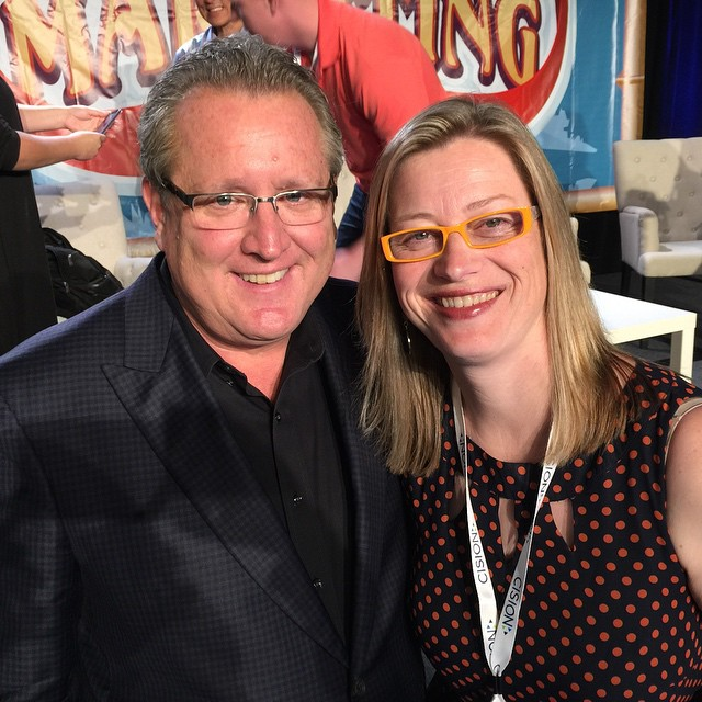 Had a nice chat with today's #smmw15 panel moderator, author, college professor and great social med