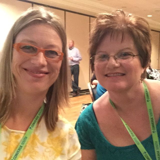 Fun to meet up with Tina _angelsabovedesign once again! Met her at #socialboom15 and now at #Converg