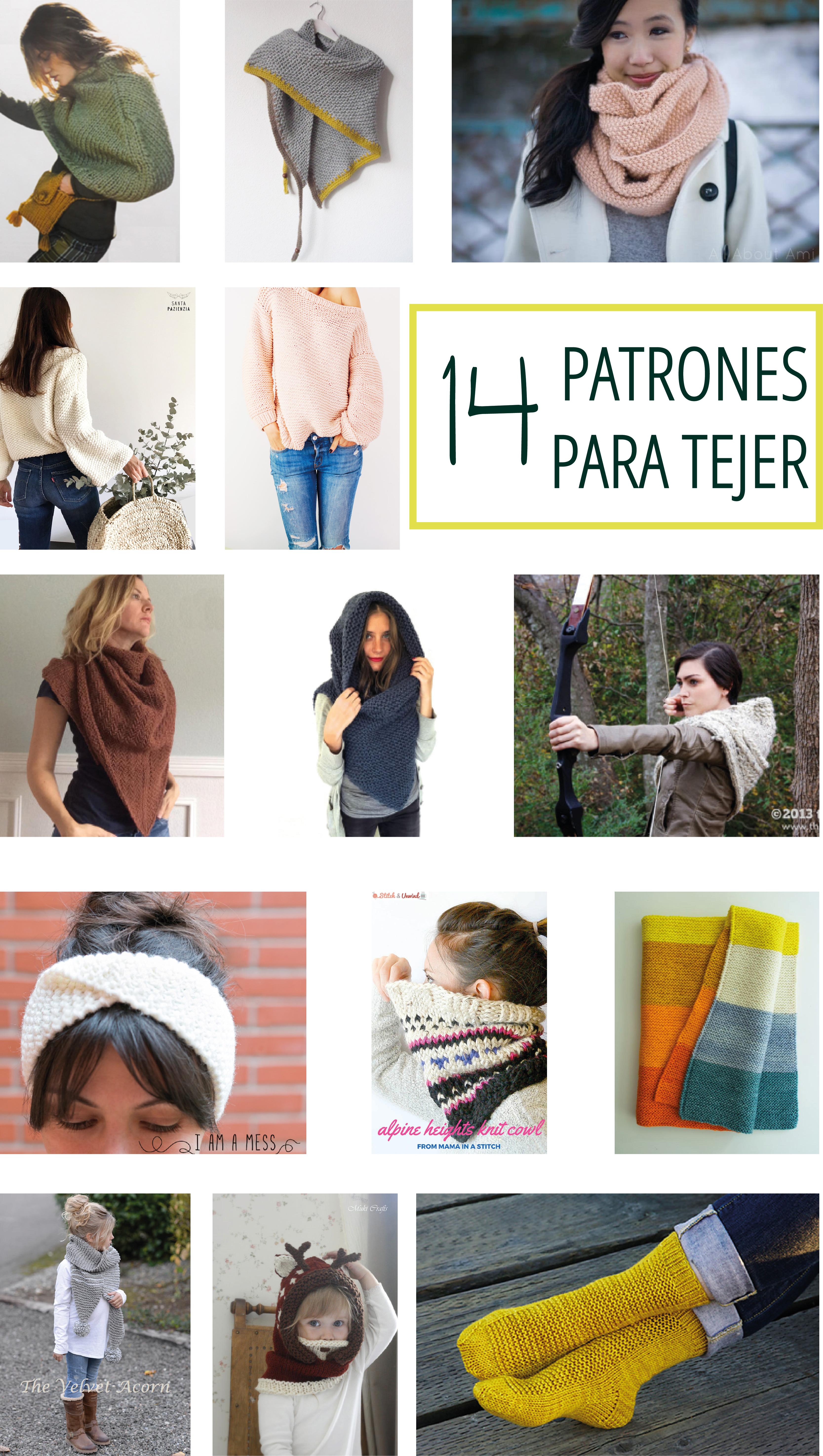 14 PATRONES para TEJER | letroup