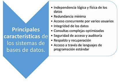 caracteristicas de base de datos