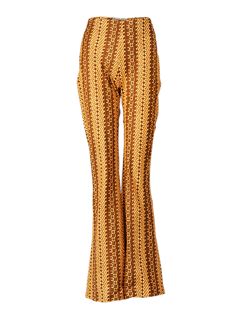 Glint of gold high waisted bell bottom pants