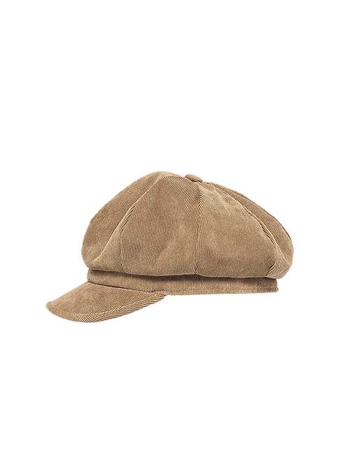 Dona light weight corduroy newsboy hat