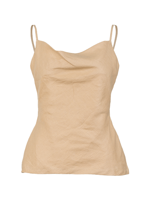 Awan linen cowl neck top