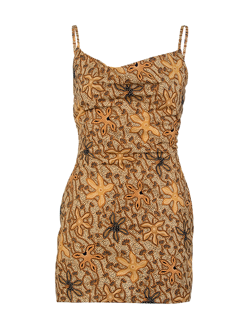 Taro cowl neck mini dress