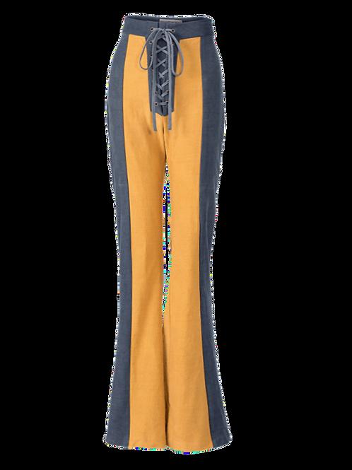 Gaya lace front bell bottom pants