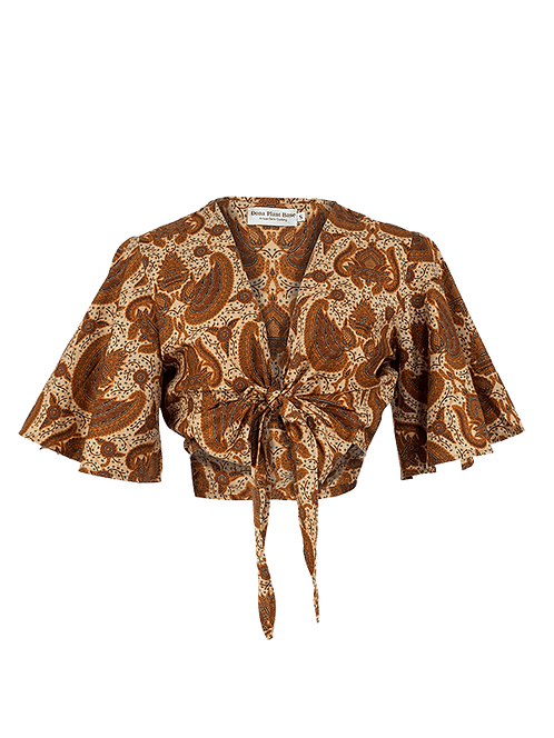 Garuda tie knot flare sleeve top