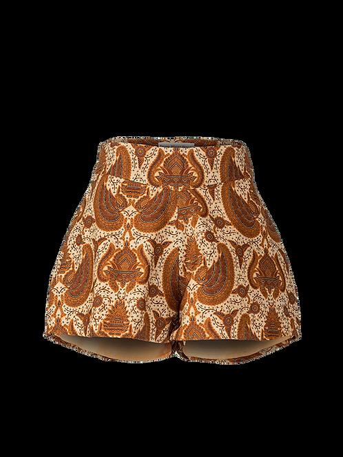 Garuda high waisted flare shorts