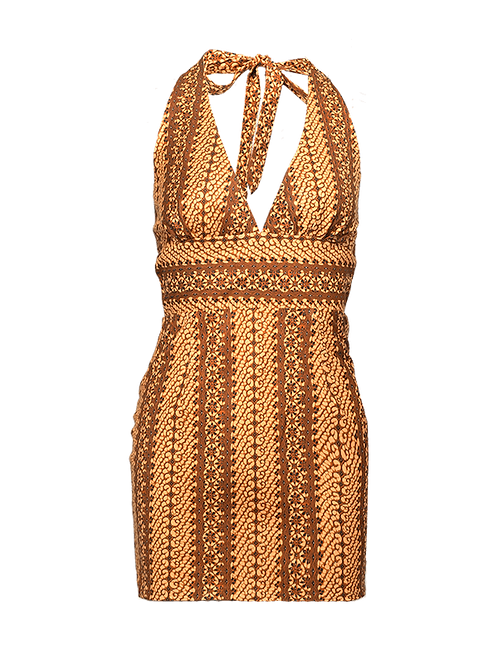 Glint of gold monroe mini dress