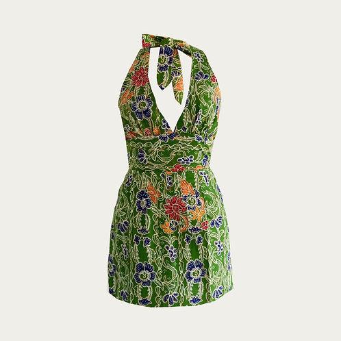 Monrou Mini Dress ( Tropical Green )