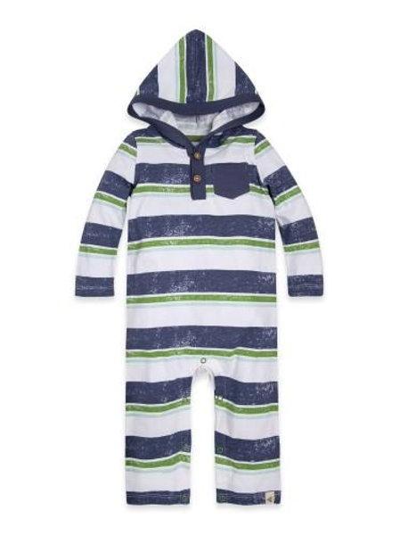 Burt's Bees Retro Stripe Hooded Coverall