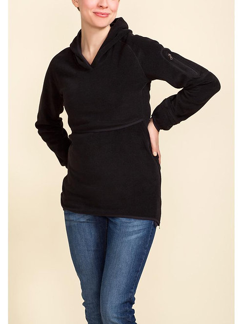 Boob Ready Flex Fleece Black Nursing Top