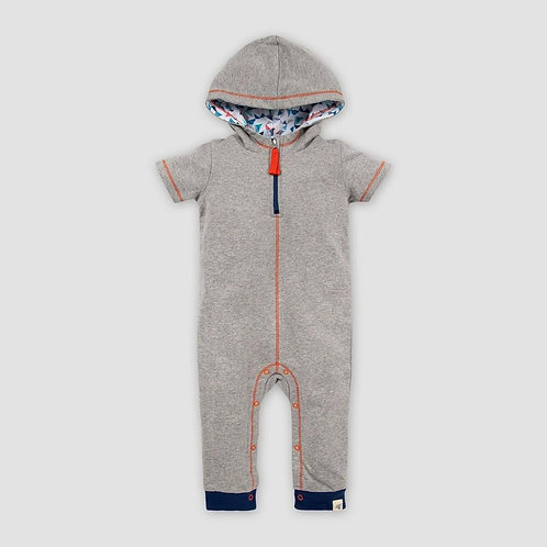 Burt's Bees Baby Organic French Terry Hooded Zip Jumpsuit Romper
