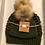 Thumbnail: Mommy & Me, Adult & 3-6 Month Knit Hat with Pom Pom Set