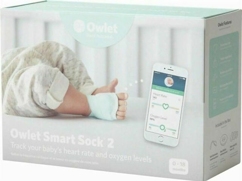 Owlet Smart Sock Baby Monitor - Track Heart Rate & Oxygen Levels
