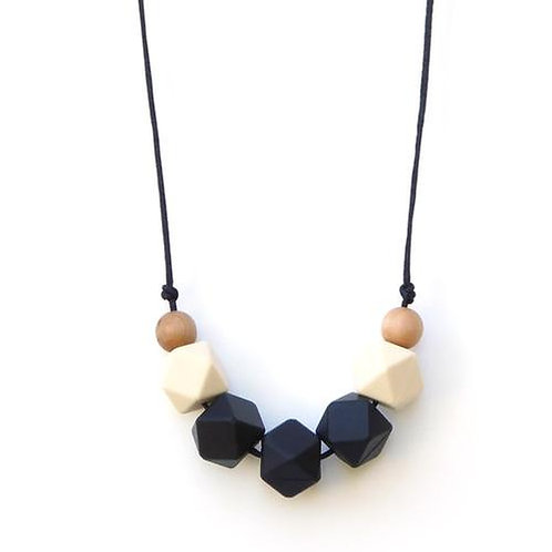 LouLou LOLLIPOP Silicone and Wooden Teething Necklace