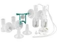 Ameda Dual HygieniKit Milk Collection System w/ CustomFit Breast Flanges