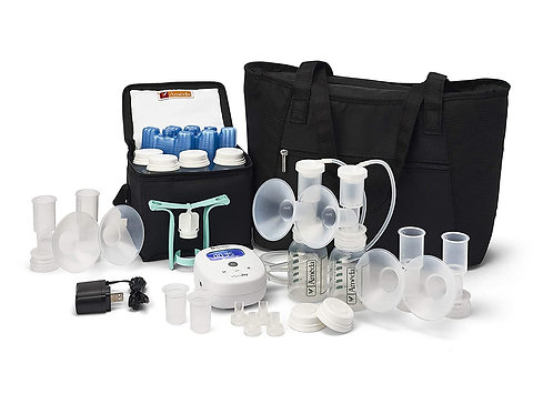Ameda Mya Joy Double Electric Breast Pump with Large Tote and Storage system