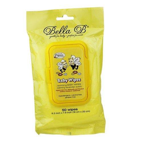 Bella B Soothing Baby Wipes, Lavender Scent, 50 Count
