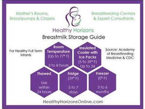 Breastmilk Storage Guide Magnet