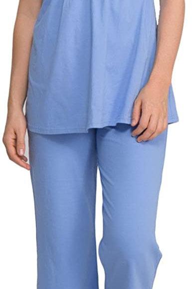 Q-T Intimates Womens' Short Sleeve Pajama Set