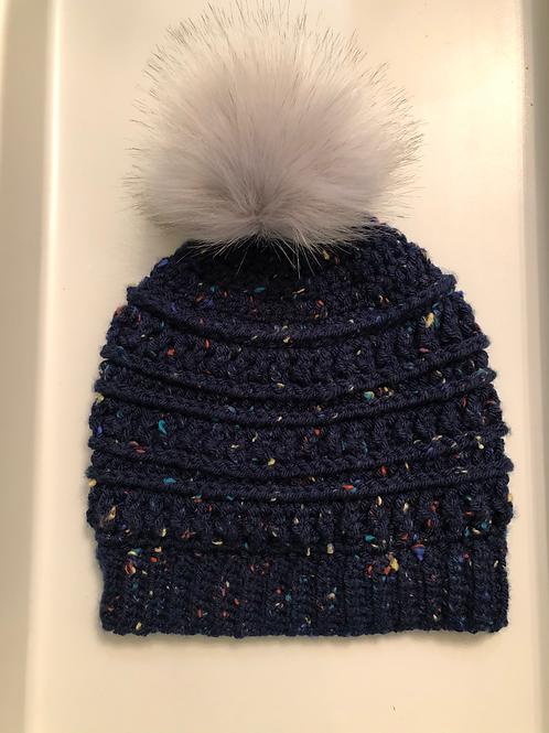 The Owl's Nest Adult Knit Hat with Pom Pom