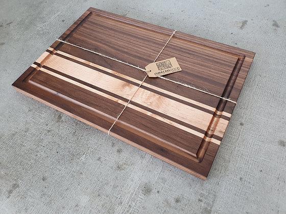 Cuttingboard L. Walnut - Maple