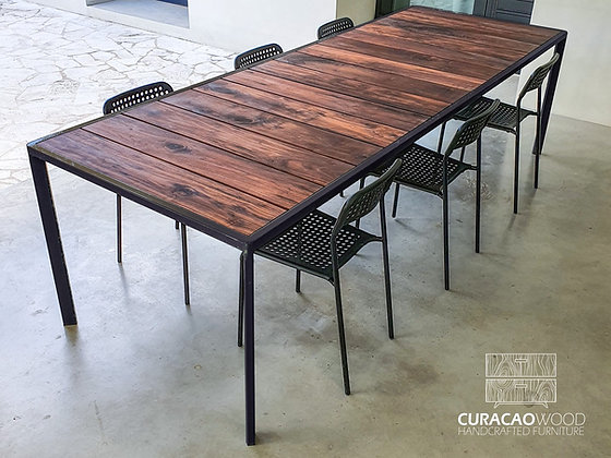 Outdoor dining table 280x100cm - Black Walnut