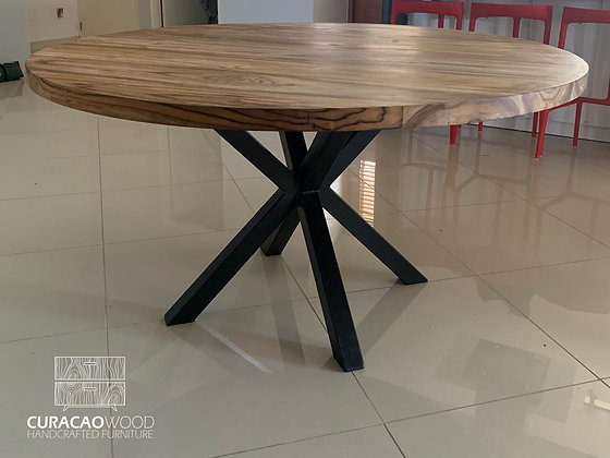 Dining table round 150cm - Teak/Oak/Black walnut