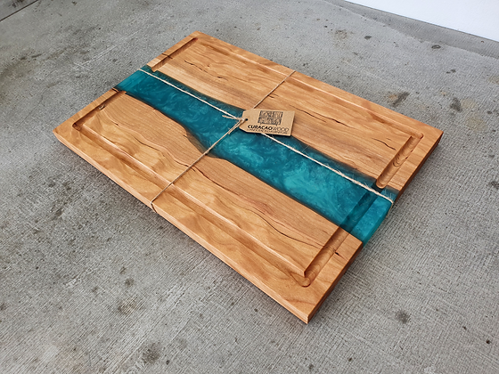 Cherry with Teal epoxy - Board