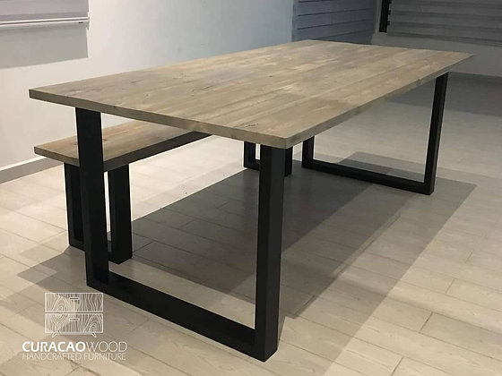 Dining table 220x100m - Reclaimed wood