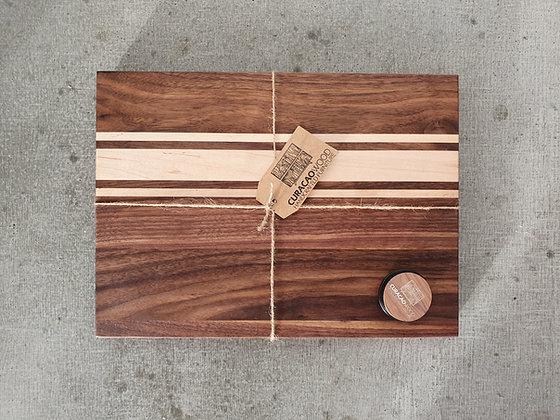 Cuttingboard S. Walnut - Maple