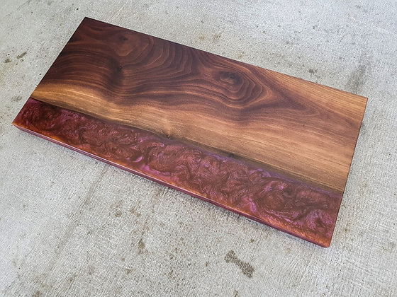 Walnut with Dark Dragons Breath epoxy - Board