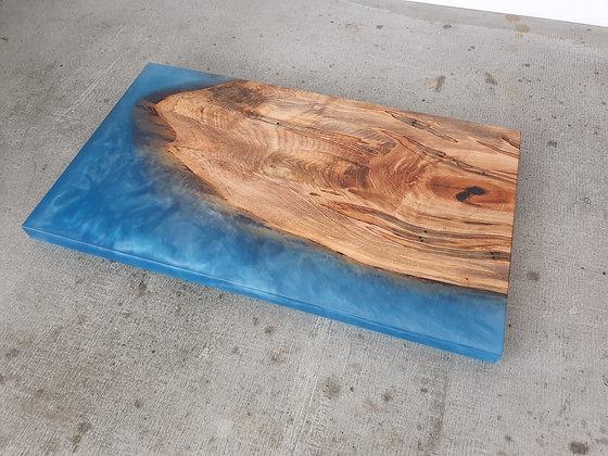 Ambrosia Maple with Caribbean Blue epoxy - Board
