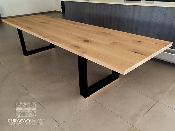 Dining table 300x100cm - white oak