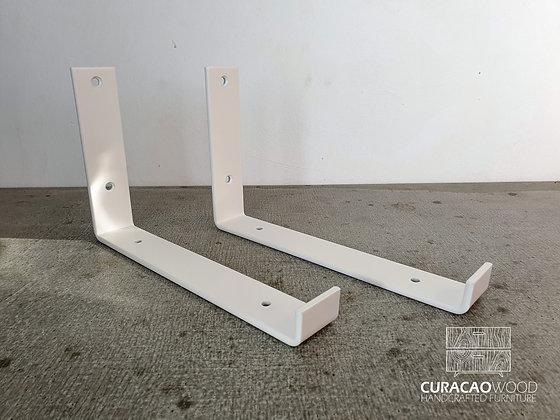 Wall bracket white -  2pcs