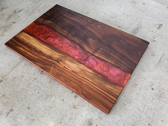 Walnut with Dragons Breath epoxy - Board
