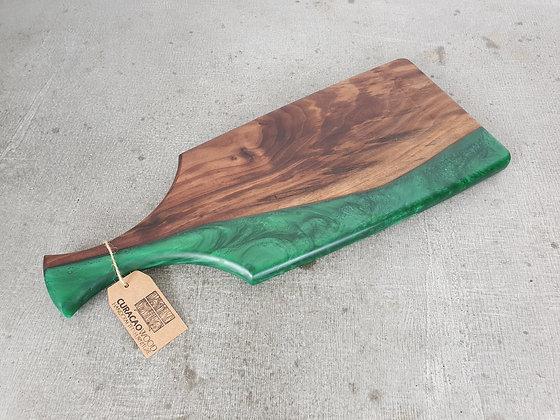 Walnut with Dark Green epoxy - Charcuterie