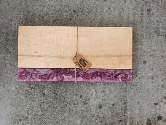 Curly Maple with Lavender epoxy - Board
