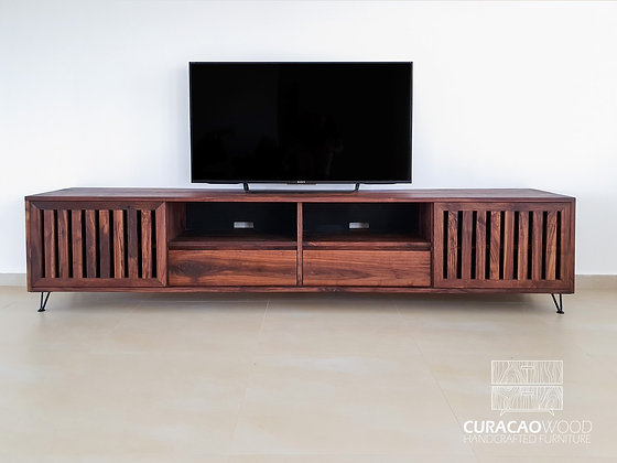 TV-Stand 240x45x55cm - Black Walnut