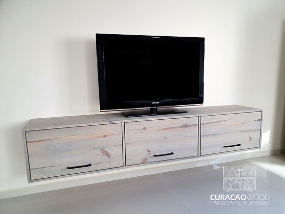 Floating TV-Stand 180x40x40cm - Pine
