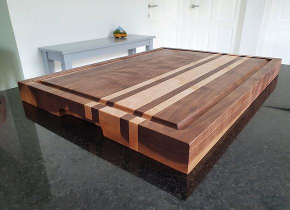Snijplank XL. Walnut -Maple