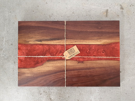 Walnut with Cabaret Red epoxy - Board
