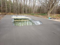 Concrete Poured - Frames still On - Vand