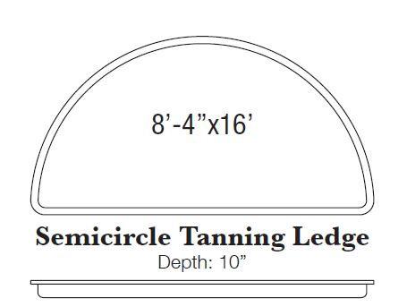 Semicircle Tanning Ledge