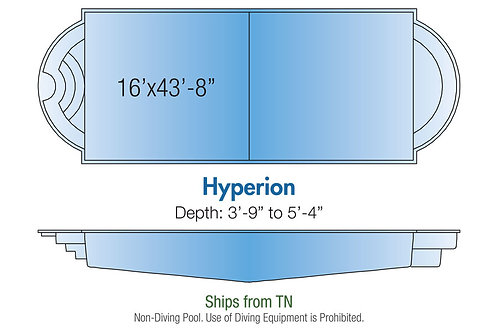 "Hyperion, 16'x43'8""x5'4"""