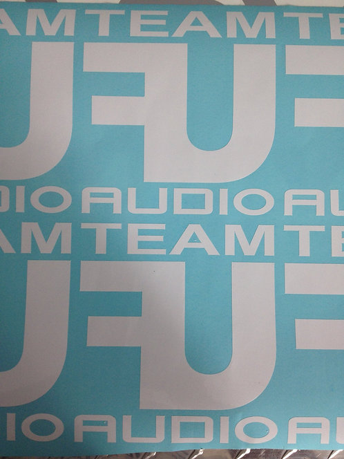 TEAM FU AUDIO DECAL - WHITE