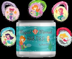Mermaid Hairties with Jar