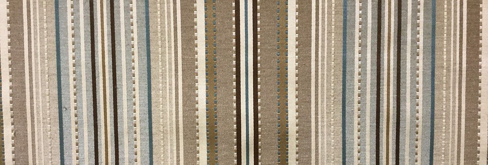 Traditional Brown - Blue Stripe